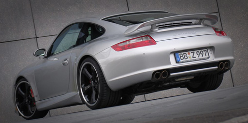 Techart Type Iii Wing on 997 c4s porsche with rear spoiler