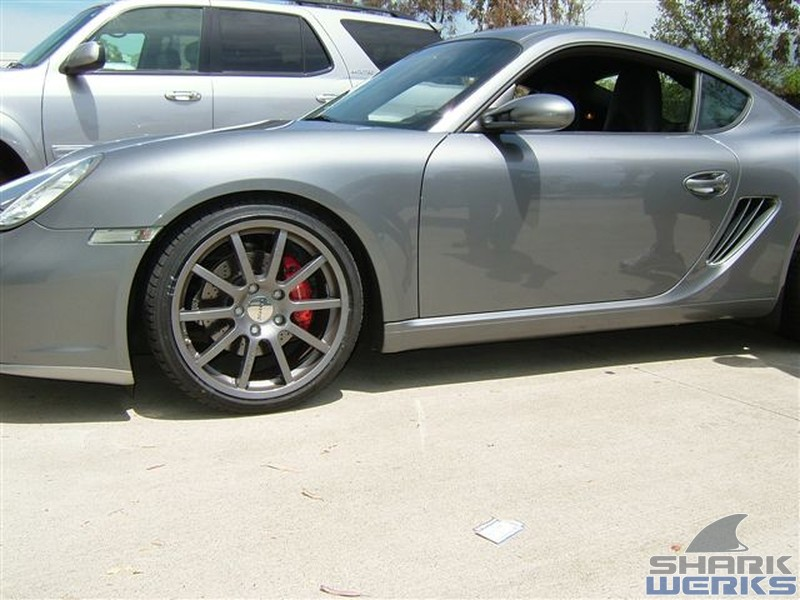 porsche 2006 cayman s - grey ghost with tubi exhaust and more project -  shark werks