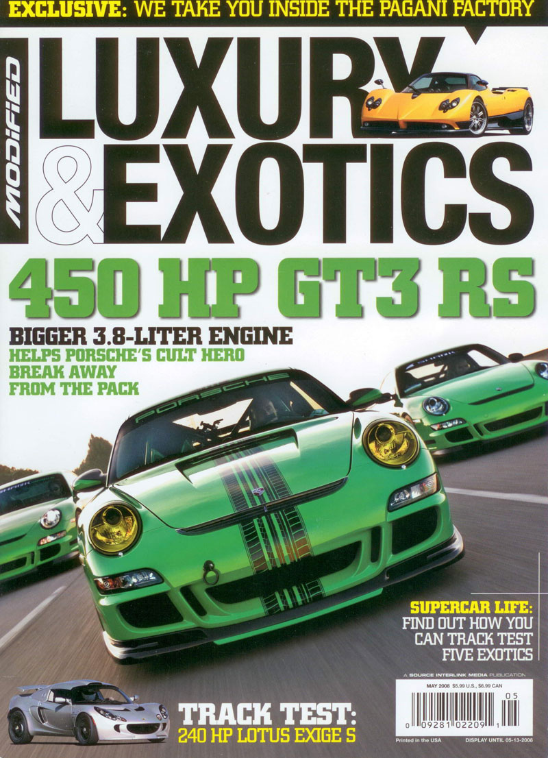 Modified Luxury Exotics Magazine May 2008 Sharkwerks Gt3 Rs 3 8