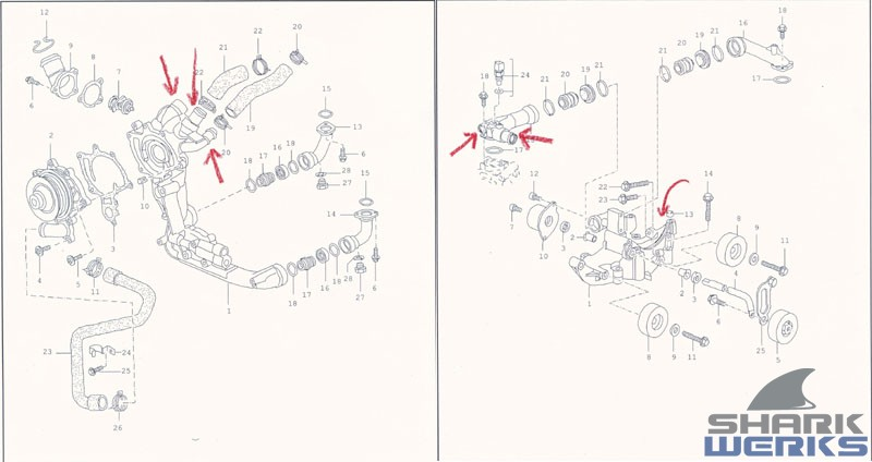 porsche 991 engine diagram the shark werks gt1 coolant pipe prevention fix on gt1 block  the shark werks gt1 coolant pipe